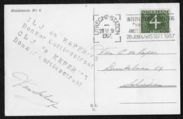 "Utrecht: Intern. Tentoonstelling ""Het Atoom"" Amsterdam Schiphol 28 Juni T/m 15 Sept. 1957 - Poststempels/ Marcofilie"