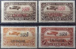 R2452/1010 - 1931/1933 - COLONIES FR. - LATTAQUIE - POSTE AERIENNE - N°1 (sucharge Carmin + Rouge) + N°2 Et 3 NEUFS* - Unused Stamps