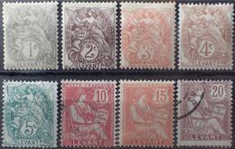 R2452/1012 - 1902/1920 - COLONIES FR. - LEVANT - TYPE BLANC Et MOUCHON - N°9 à 16 NEUFS*(5t)/☉(3t) - Nuovi