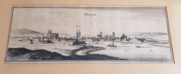 Melun Gravure Du 18ème - Historical Documents