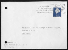Groningen: Op Roakeldais 16 T.e.m. 20 Juni 1970 Folkloristisch Festival Warffum Verwacht Ook U. - Poststempels/ Marcofilie