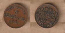 ALEMANIA   Schwarzburg-Rudolstadt  -  ¼ Kreuzer - 1866 Copper • 1.1 G • ⌀ 17.2 Mm KM# 175 - Sin Clasificación