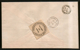 Russia 1897 Service Cover Slonim District Conscription Label Seal - Grodno (Belarus) - Covers & Documents