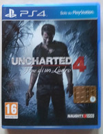 Sony PlayStation 4 - UNCHARTED 4  FINE DI UN LADRO  ( Anno 2016  ) - Sony PlayStation