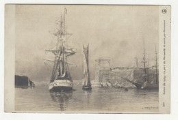 Salon De 1909 - Montenard: Le Port De Marseille Le Matin Old Postcard Posted 1909 Zagreb To Kutjevo B210420 - Paintings