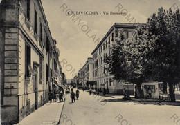 CARTOLINA  CIVITAVECCHIA,LAZIO,VIA BUONARROTI,BELLA ITALIA,MEMORIA,CULTURA,STORIA,IMPERO ROMANO,VIAGGIATA 1954 - Civitavecchia