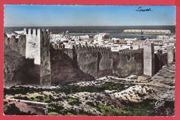 CPSM- SOUSSE -Les Remparts De La Ville Arabe- Ann.50-Ed. V. Slama N°7 * Scan Recto/Verso - Tunesië