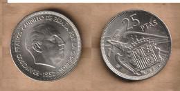 ESPAÑA   25 Pesetas -  1957 * 70  Copper-nickel  • 8.5 G • ⌀ 26.5 Mm KM# 7 - 25 Pesetas