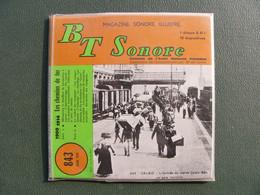Magazine Sonore Illustré Les Chemins De Fer 1900 à 1914 Le T. C. à Marcillac Locomotive 121 Diapos Disque 45t Train Sncf - Ferrovie
