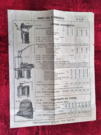 (±)1900-CHARLEVILLE-(Ardennes)Jubert Fils-Soufflets Forges Portatives-Crics-Treuil- Document Commercial-Publicité-☛Rare - 1900 – 1949