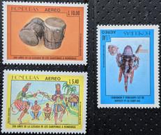 Honduras, 1996, Mi 1308-1310, The 200th Ann. Of Arrival Of Garifunas Tribe In Honduras, Garifunas Dancing, Drums, 3v,MNH - Musica