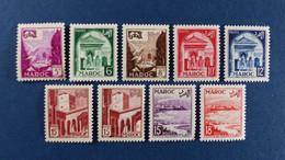 Maroc - Série Complètes 10 Valeurs YT N° 306 à 314 * Neuf Avec Charnière - Neufs