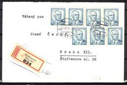 Tchécoslovaquie 1945, Lettre Récommandé, - Covers & Documents