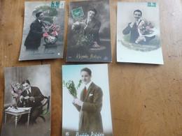 5 CPA     HOMME   ( Offre De Bonne Année , Etc )  Des Années 1900 ...etc - New Year