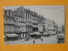 LILLE -- Café De La Paix - Grand'Place - Automobile - Tramway - Attelage - Cafes