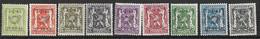 België 1/1/1943 Typo Nr. 493/501 Postfris (mnh) - Typografisch 1936-51 (Klein Staatswapen)
