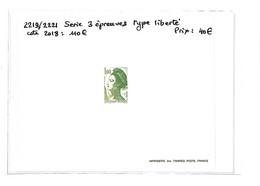 LIBERTE  -  N° 2219/2221 Xx - 3 Epreuves( Neufs Sans Charnieres ) Voir Scan - Curiosa: 1980-89 Postfris