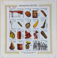 Honduras, 2000, Mi 1511-1530, Musical Instruments, Sheet Of 20, MNH - Musica