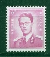 BELGIE Boudewijn Bril * Nr 1069a * Postfris Xx * WIT  PAPIER - 1953-1972 Occhiali