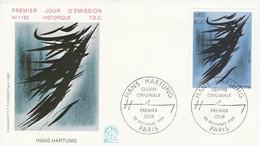 FDC 1980 PEINTURE DE HANS HARTUNG - 1970-1979