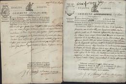 Commune Affranchie Nom Révolutionnaire Lyon Extrait Registre Naissance Avec Vignette + Extrait De Décès Affranchie Barré - 1701-1800: Precursors XVIII