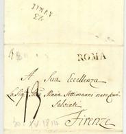 ROME Roma 20 Aprile 1814 Pour Firenze Florence Giovanni Francesco Campanella - 1. ...-1850 Prefilatelia