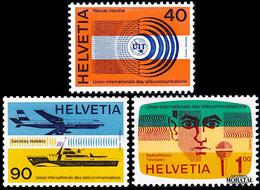 1976 Suiza Yv S-450/452 U.I.T.  **MNH Perfecto Estado, Nuevo Sin Charnela  (Yvert&Tellier) - Officials