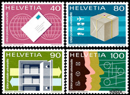 1976 Suiza Yv S-453/456 U.P.U.  **MNH Perfecto Estado, Nuevo Sin Charnela  (Yvert&Tellier) - Officials
