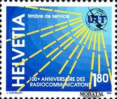 1994 Suisse Yv S-469 100º Radiocommunications  **SC TTB Très Beau, Neuf Sans Charnière  (Yvert&Tellier) - Officials