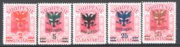 Albania 1920 Y.T.98/100,103,05 */MH VF/F - Albania