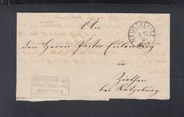 Faltbrief 1875 Neustrelitz Frei Lt. Avers - Preussen