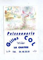 Calendrier De Poche 1995 Poissonnerie Col La Chatre Theme Homard - Small : 1991-00