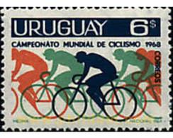 Ref. 234997 * MNH * - URUGUAY. 1969. WORLD CHAMPIONSHIPS OF CYCLING IN MONTEVIDEO . CAMPEONATOS DEL MUNDO DE CICLISMO E - Ciclismo