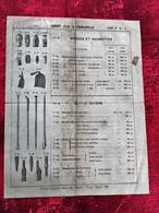 1901-CHARLEVILLE(Ardennes)Jubert Fils-Outillage-Masse-Massette-Binette-Marteau-pince-Document Commercial-Publicité-☛Rare - 1900 – 1949