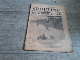 Sporting Journal Sportif Illustré 1928 Cyclisme Arrivée Circuit De Champagne Championnat France Demi-fond Catudal Auto - Sport