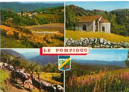Cpsm -    Le Pompidou - Corniche Des Cévennes        G404 - Autres Communes