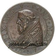PAPA SISTO V 1590 DIOSCURI AL QUIRINALE MEDAGLIA MAZIO - Royaux/De Noblesse