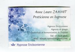 Carte De Visite °_ Carton-Praticienne Hypnose Ericksonienne - Visiting Cards