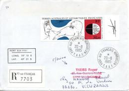TAAF. PA 89 De 1985 Sur Enveloppe Ayant Circulé. Oeuvre De Trémois. - Covers & Documents