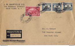ESTADOS UNIDOS (s) Sobre Certificado Año 1925. - 1a. 1918-1940 Used