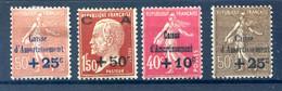 France - Caisse D'Amortissement N°250, 255, 266 Et 267 - Neuf* - Cote 170€ - (F563) - Neufs
