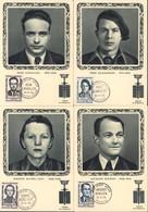 4 CM Carte Maximum Héros De La Résistance YT 1157 à 1160 CAD 19 4 1958 Cavaillès Scamaroni Michel Levy Et Bingen - 1950-59