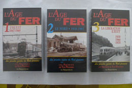 L'AGE DE FER : Le RAIL FRANCAIS, L'OUEST 1947-1948 - LOT De 3 Cassettes VIDEO VHS édité En 2000 - Viaggio