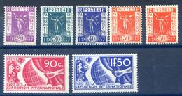 France N°322 à 327 - Propagande Exposition 1937 - Neuf** - Cote 125€ - (F564) - Neufs