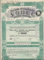 SOCIETE D'ELECTRICITE SODEC - LUXEMBOURG -  TITRE DE 1 ACTIONS  -ANNEE 1949 - Elettricità & Gas