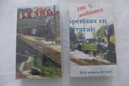 ARDECHES (07) : CHEMIN De FER DEPARTEMENTAUX Du VIVARAIS - LOT De 2 Cassettes VIDEO VHS - Travel