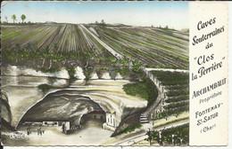 """FONTENAY - St SATUR ( Cher ) , Caves Souterraines Du """" Clos La Perrière """" ARCHAMBAULT Propriétaire , 1957 - Autres Communes"""