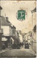 GRACAY ( Cher ) , Grande Rue , CPA ANIMEE , 1910 - Graçay