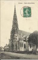 GRACAY , Eglise Notre Dame , 1908 , CPA ANIMEE - Graçay