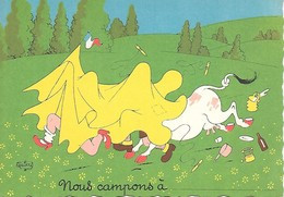Illustrateur Albert DUBOUT-  NOUS CAMPONS - Dubout